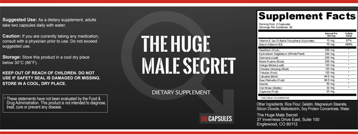 The Huge Male Secret Ingredients