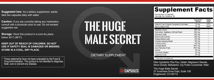 The Huge Male Secret Ingredients