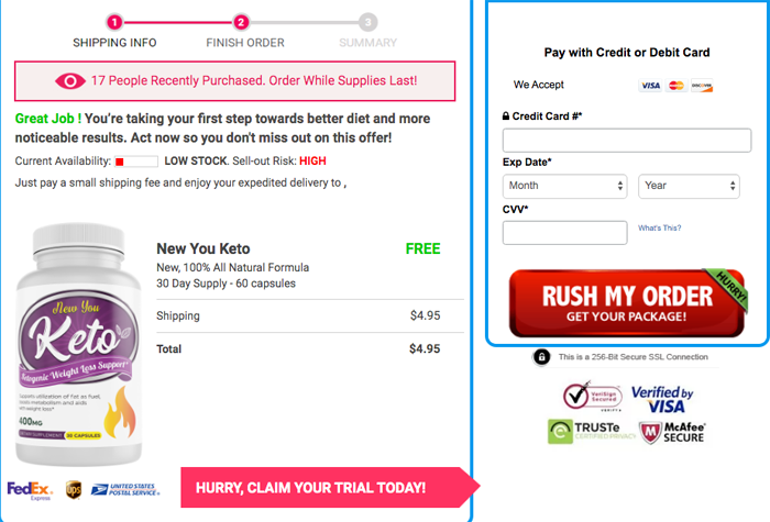 Buy New You keto Trial