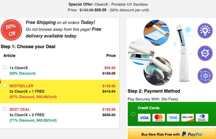 CleaniX price