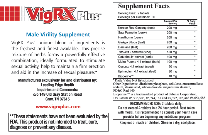 vigrx plus ingredients